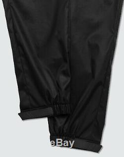 100% Authentic Brand New Prada Gabardine Black Nylon Shell Joggers W 32