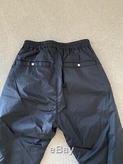 100% Authentic Brand New Rick Owens Black Nylon Shell Joggers W 32