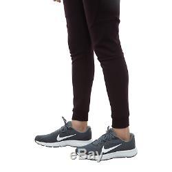 $100 Nike Tech Fleece Joggers Pants Cuffed Burgundy White Men's Small 805162-659