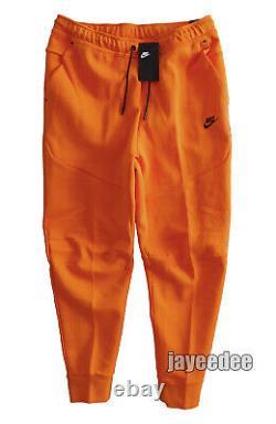 $110 Nike Sportswear Tech Fleece Pants Joggers Cu4495-837 Electro Orange/black L