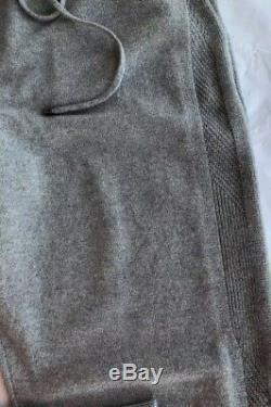 $1290 Ralph Lauren Purple Label Gray Cashmere Joggers Knit Stripe Sweatpants