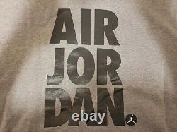 $135 NIKE AIR JORDAN JUMPMAN FLEECE JOGGERS & HOODIE SET CARBON HEATHER Sz L
