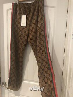 $1500 MENS GUCCI Technical Jersey Jogging Pants GG Sweatpants