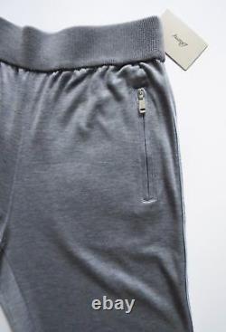 $1650 BRIONI Gray Cotton and Silk Lounge Track Jogging Pants Sweatpants Size XL