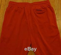 $370 Mens Authentic Burberry Munley Embroidered Logo Sweatpants Red Large