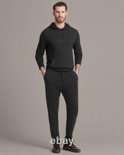 $495 Ralph Lauren Purple Label Charcoal Herringbone Track Pants Relax Jogger NWT