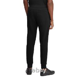 $695 Ralph Lauren Purple Label Embroidered Fleece Logo Track Pants Relax Jogger