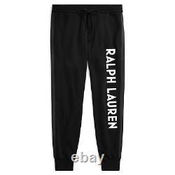 $695 Ralph Lauren Purple Label Fleece Double Knit Logo Track Pants Relax Jogger