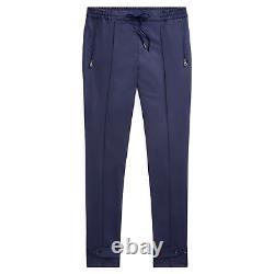 $695 Ralph Lauren Purple Label Navy Slim Fit Wool Gabardine Dress Pants Trouser