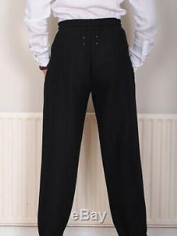 £970 Maison Martin Margiela Wool Knot Trousers Black Joggers Mens