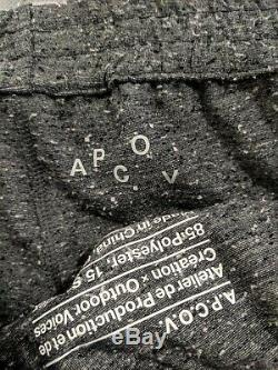 APC X Outdoor Voices Textured Jogger Pants Size Small