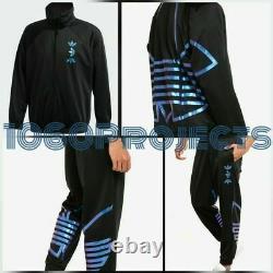 Adidas Originals Zeno Men's Tracksuit Set Black Jacket & Pants Joggers Sz L