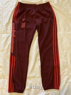 Adidas Yeezy Calabasas Track Pants Joggers Maroon Red Size M