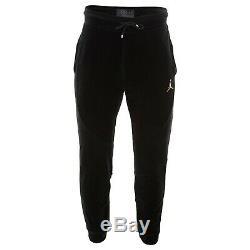 Air Jordan Velour Pants CHOOSE SIZE AH2361-010 JSW Black Gold Retro Velvet