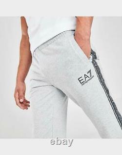 Armani Emporio Mens EA7 Logo Tape Jogger Pants 3HPP61-904 Grey-Size Large