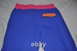BAPE Sweatpants Blue Multi Size Large/L Bathing Ape Pants Joggers Bottoms
