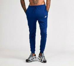 Bnwt Tn Tech Fleece Poly Blue Nike Air Max Pants Bottoms Joggers Slim Fit Men