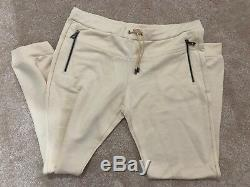 Brand New Versace Collection Mens Joggers Jogging Bottoms Cream Beige