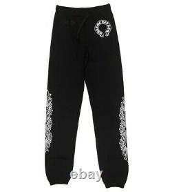 Chrome Hearts Sweatpants Joggers Size Small Black Horseshoe Floral Cross