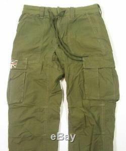 Denim Supply Ralph Lauren Men Military Army USA UK Flag Jogger Cargo pants 31W