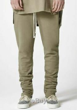 Fear Of God FOG Essentials Drawstring Sweatpants Silver Sage Size Small