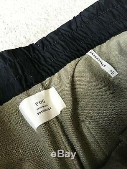 Fear of God FOG Essentials Drawstring Pants Medium Silver Sage NWT Jogger