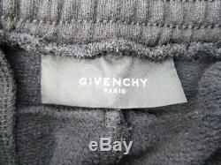 GIVENCHY Black Zip Detail Men's Joggers Size L