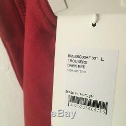 GIVENCHY Logo Band Embroidered Jogger Sweatpants Cuff Sz Large Red $1120 NEW