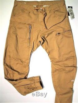 G Star Raw men's size 34x32 3D tapered pants jogger khaki
