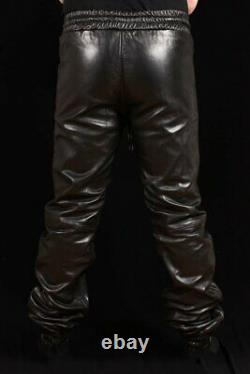 Genuine Sheep/Lambskin Soft Leather Trouser Draw Pants For Men For Jogging Pants