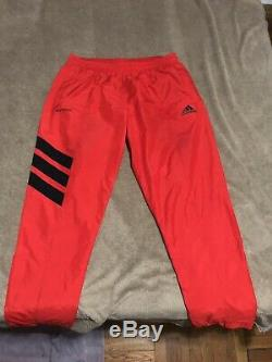 Gosha Rubchinskiy x Adidas Men's Red Logo Slim Track Pants Jogger AUTHENTIC
