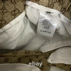 Gucci Men's Natural Tan Canvas GG Pants Size US 30/31. Gucci Mens Size 44