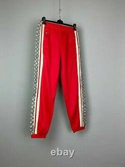 Gucci Monogram Technical Jersey Jogging Pants Trousers Red Size M
