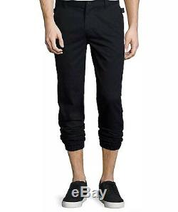 HELMUT LANG Men's Elastic Cuff Joggers Track Sweat Pants in Black 33x28 NWT $370