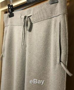 Helmut Lang Mens Luxury 100% Cashmere Joggers Trousers Grey Small