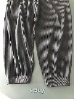 Homme Plisse Issey Miyake Black Cuffed Jogger Men's Pants Size 2 Preowned