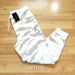 Jordan Jumpman Fleece Men Size 2XL Pant White Camo Jogger BQ5662 New