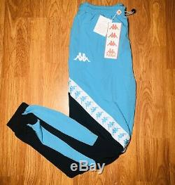 Kappa Mens Sz Xl Blue Track Pants Black Active Sweatpants Joggers Hype Rare NWT