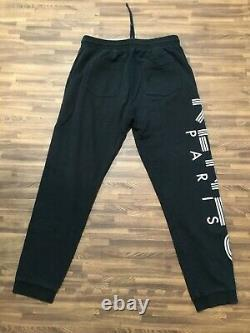 Kenzo Paris Mens Sweatpants Joggers Pants Black Side Logo Size M Medium
