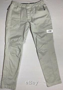 Kith Mens Mercer VI Cement Tan Beige Pants Joggers Size Large Elastic Waist