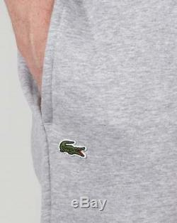 Lacoste Fleece Track Pants in Light Grey sweat pants joggers tracksuit bottoms
