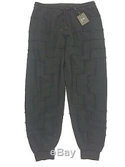 MARCELO BURLON Mens Logo Geometric Pattern Sweatpants Black Size XXL (MSRP $375)