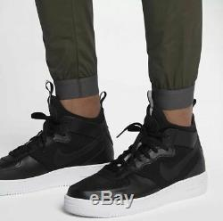 Men Nike Tech Bonded Woven Jogger Pants 823363 325 SIZE 34 Cargo Green