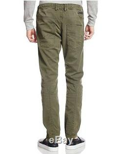 Men's DIESEL Krooley Jogger Green 670M Joggjean Jogg Sweat Leg Jeans Pants New