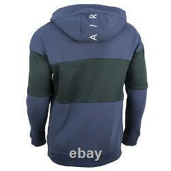 Men's Nike Air Tracksuit Full Zip Hoodie Jogger Pants Blue Navy Cotton 861612