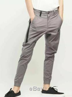 Men's Nike Sportswear Bonded Joggers Pants Gray Black Size 38 823363 036 NWT