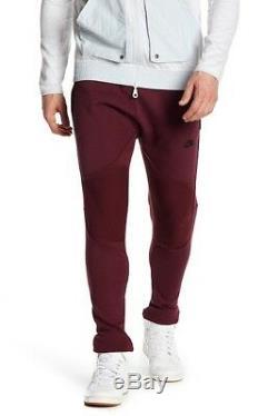 Men's Nike Sportswear Tech Fleece Jogger Pants Maroon Black Size XS 805658 681