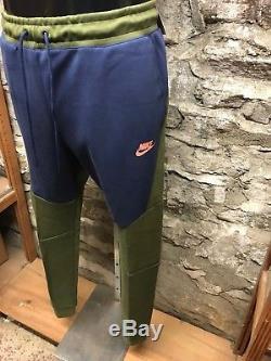 89515c2133e2b Men's Nike Tech Fleece Jogger Pant Nsw (805162-395) Navy/olive Athleisure  New