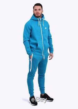 Men's Nike Tech Fleece Jogger Pants Medium Blue Heather/ White Msrp $100 New