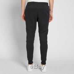 Men's Nike Tech Fleece Slim Fit Jogger Pants Black /black Msrp $100 New Large